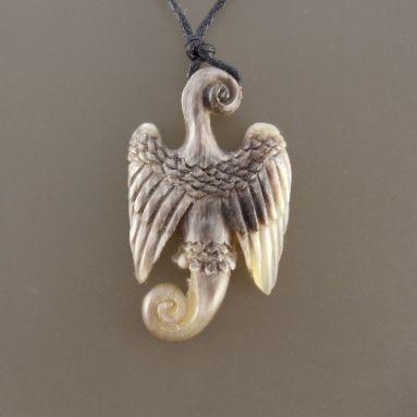 Sale and Clearance | Seraph, Horn pendant. Variegated