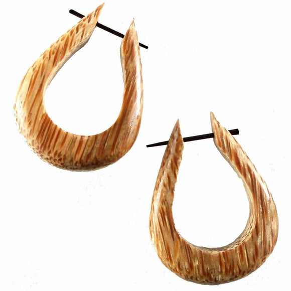 Wood Jewelry | Tahoe Hoops. Coconut Wood Earrings, 1 1/4