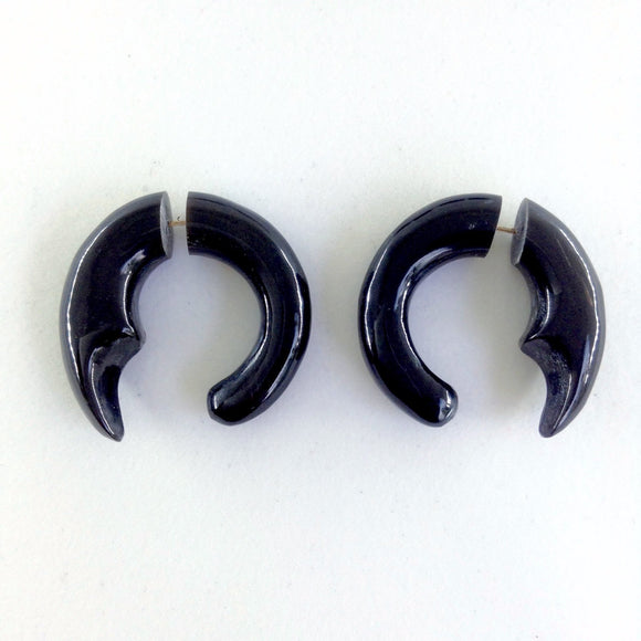 Sale and Clearance | Talon Hoop2.Tribal Earrings. Horn Jewelry.
