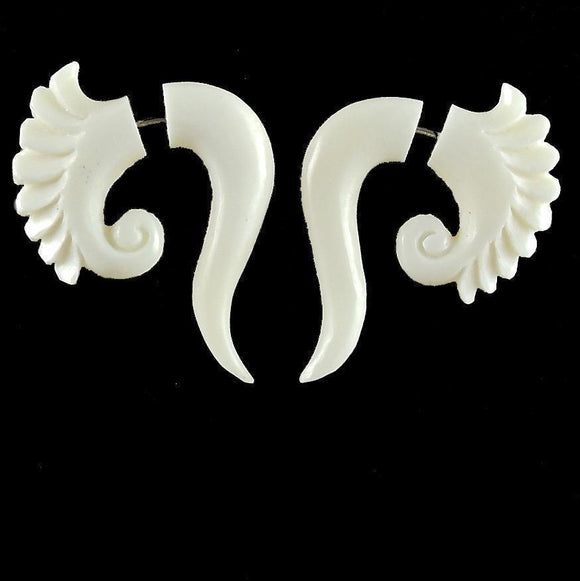 Big Faux Gauges | Curls. Fake Gauges. Bone Jewelry.