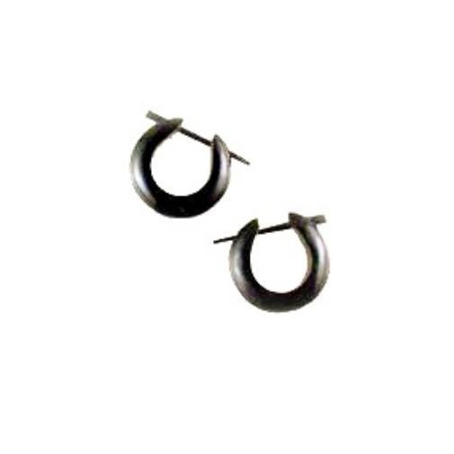 Sale and Clearance | Water Buffalo Horn Basic Hoops,  5/8 inches L x 5/8 inches W.  $10!