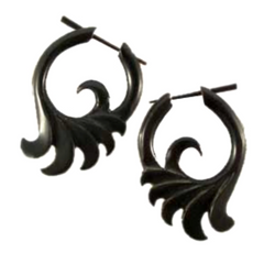Swirly Horn Earrings, Horn Jewelry