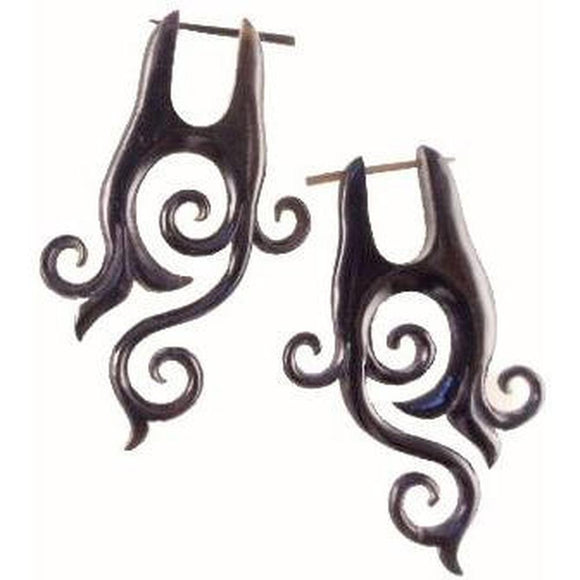 Spiral Horn Earrings | Enchanted. Handmade Earrings, Horn Jewelry.