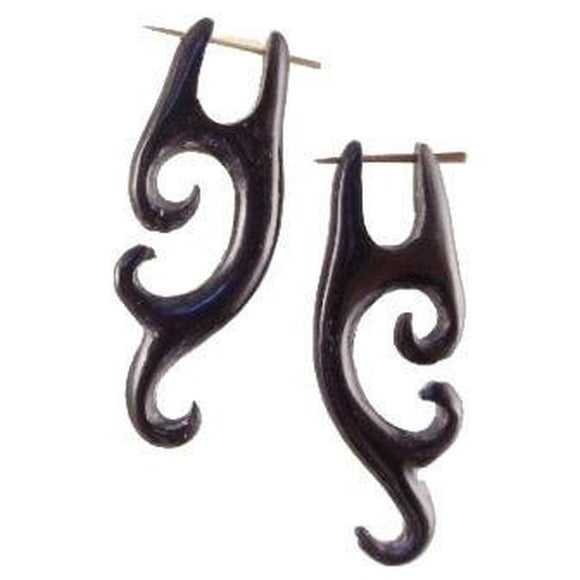 Tribal Earrings | Horn Earrings,  3/4 inches W x 1 7/8 inches L. $28