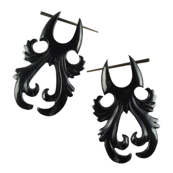 Talon Horn Earrings | Dawn Steam.  Earrings, Horn Jewelry, Black.
