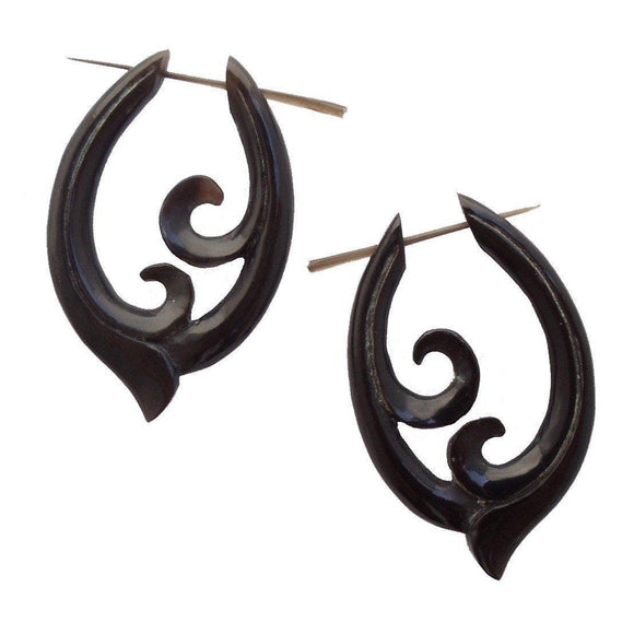 Spiral Horn Jewelry | Pura Vida. Handmade Earrings, Horn Jewelry.