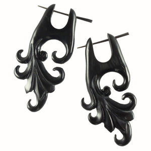 Horn Jewelry | Dragon Vine. Handmade Earrings, Horn Jewelry.
