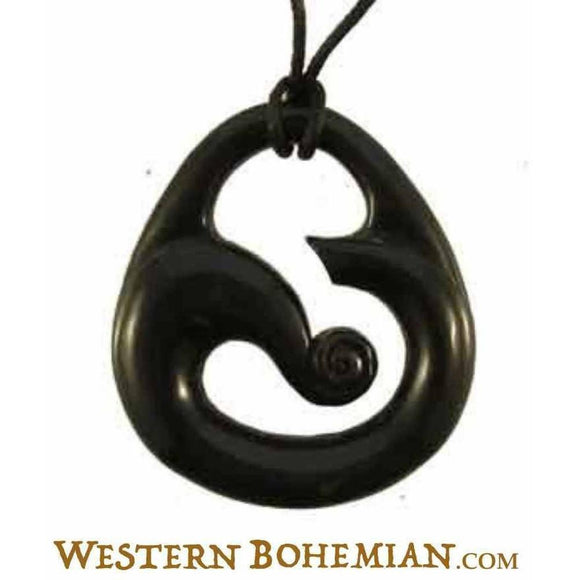 Horn Jewelry | Wind. Horn Necklace. Carved Jewelry.