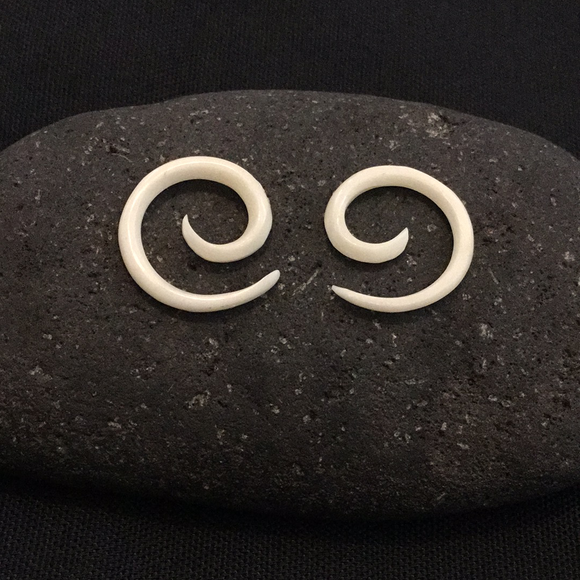 Sale and Clearance | Spiral. Bone 10g, Organic Body Jewelry.