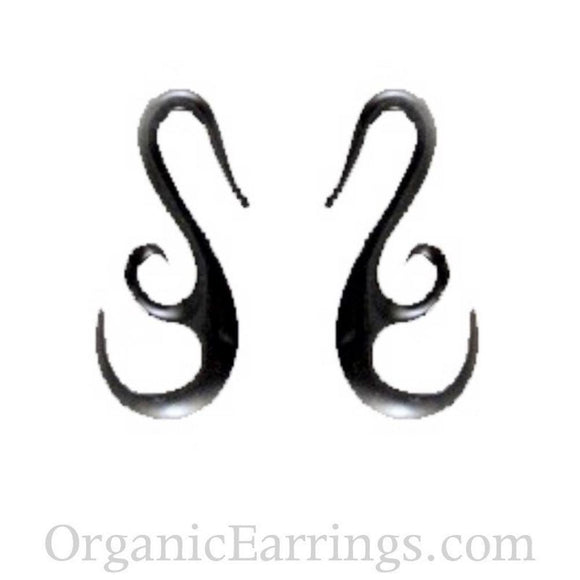8 Gauges | French Hook Wing. Horn 8g Organic Body Jewelry.