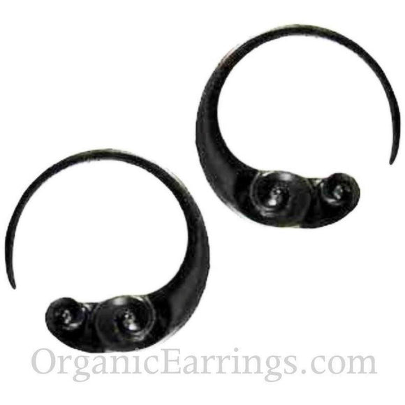Water buffalo horn 10 Gauge Earrings | Water Buffalo Horn, 10 gauge