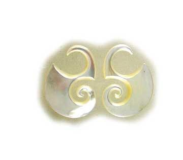 Organic Body Jewelry | Dayak Hooks. mother of pearl 8g, Organic Body Jewelry.