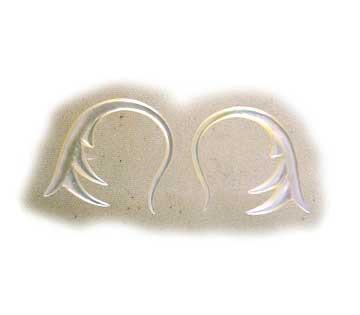 8 gauge Body Jewelry | Spring. mother of pearl 8g Organic Body Jewelry.