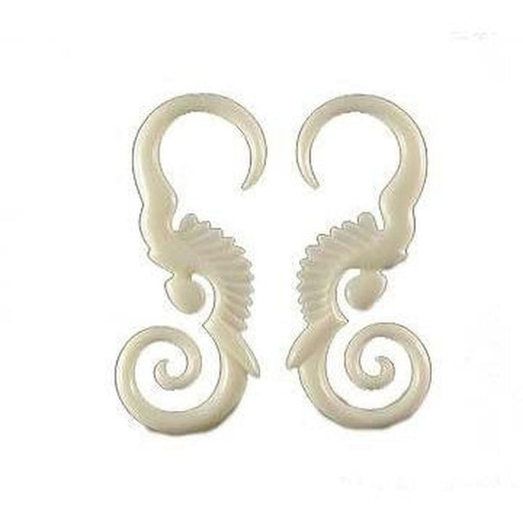 Piercing Jewelry | Water Buffalo Bone, 8 gauged earrings.