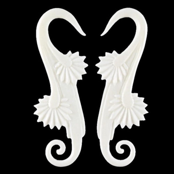 Bone Body Jewelry | Willow Blossom. Bone 6g Organic Body Jewelry.