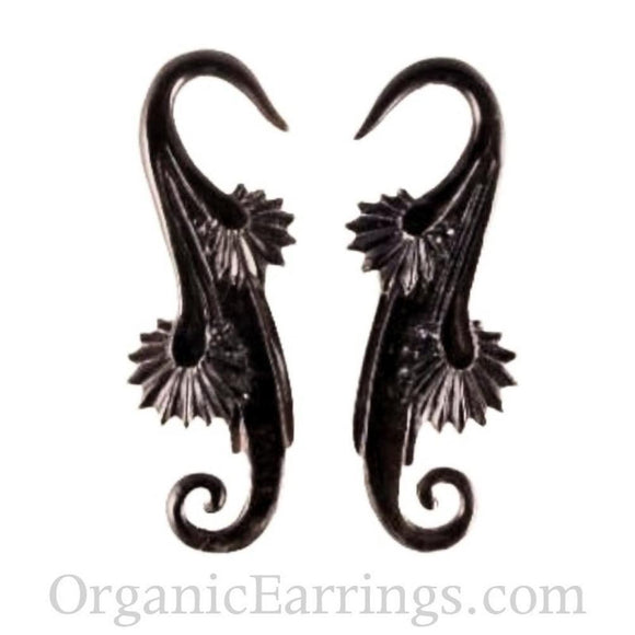 8 Gauge Earrings | Willow Blossom. Horn 8g Organic Body Jewelry.