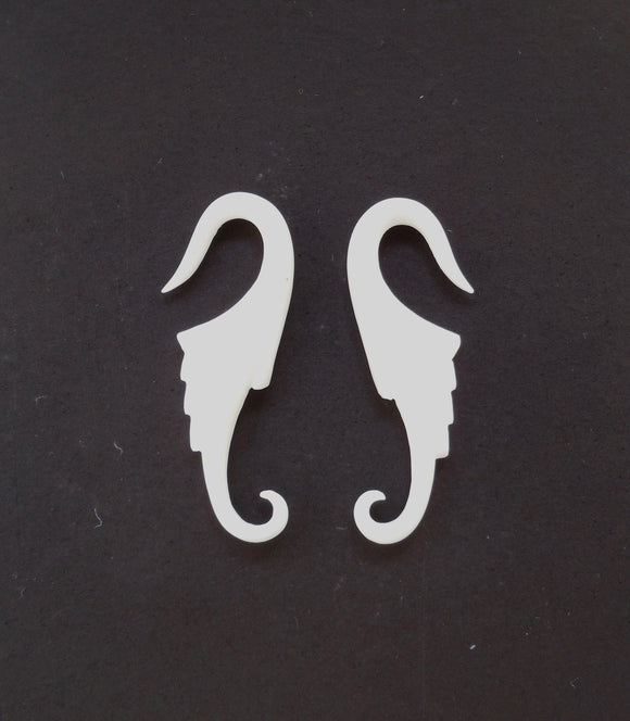 Earrings for Stretched Ears | Nuevo Wings. Bone 12g, Organic Body Jewelry.