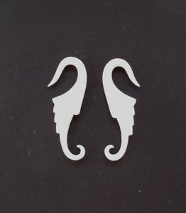 Earrings for Stretched Ears | Nuevo Wings, 12 g body jewelry. Organic Bone Body Jewelry