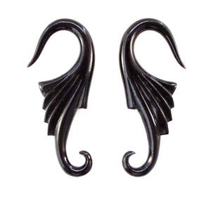 6 Gauge Earrings | Neuvo Wings, 6 gauge, horn.