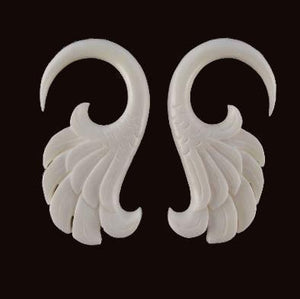 4 Gauge Earrings | Wings. Bone 4g, Organic Body Jewelry.