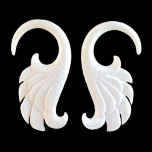 6 Gauge Earrings | Wings. Bone 6g Organic Body Jewelry.