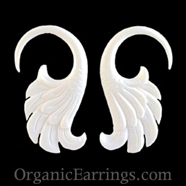Gauges | Wings. 8 gauge, Bone.