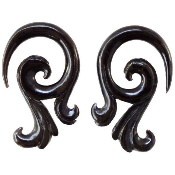 Gauged  Horn Earrings | Celestial Talon. Horn 4g Organic Body Jewelry.