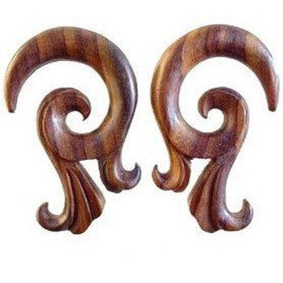Wood Body Jewelry | Celestial Talon. Sono Wood 00g Organic Body Jewelry.