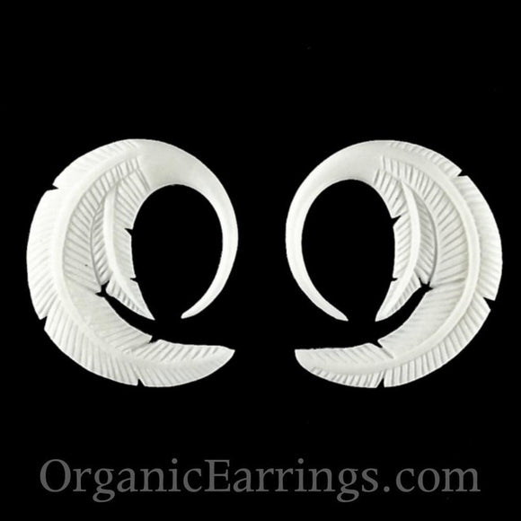 Gauges Gauges | Feather. Bone 10g Organic Body Jewelry.