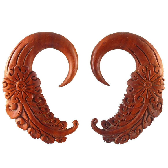 Wood Body Jewelry | Cloud Dream. Sabo Wood 00g Organic Body Jewelry.
