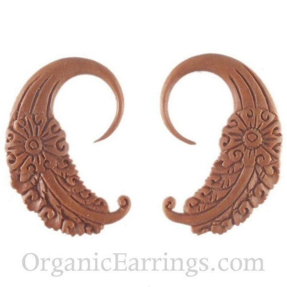 Organic Body Jewelry | Cloud Dream. Sabo Wood 12g Organic Body Jewelry.
