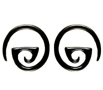 Body Jewelry | Mediterranean Spiral. areng wood 4g Organic Body Jewelry.