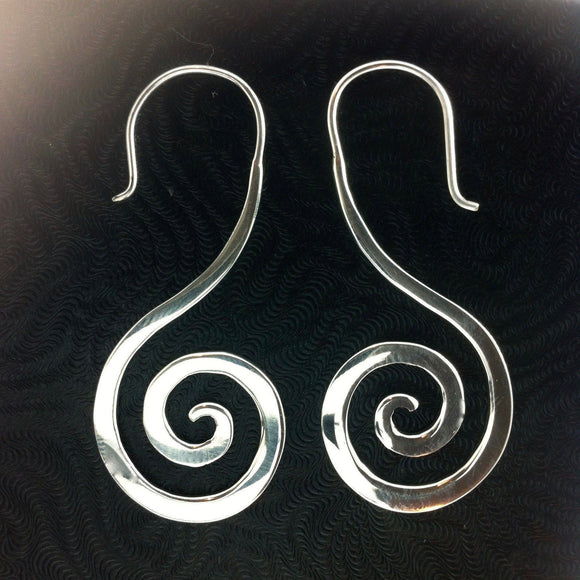 Tribal Jewelry | Sterling Silver Earrings, $36