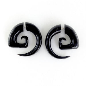 Fake Gauges | Garuda Spiral Talon. Tribal Earrings. Horn Jewelry.