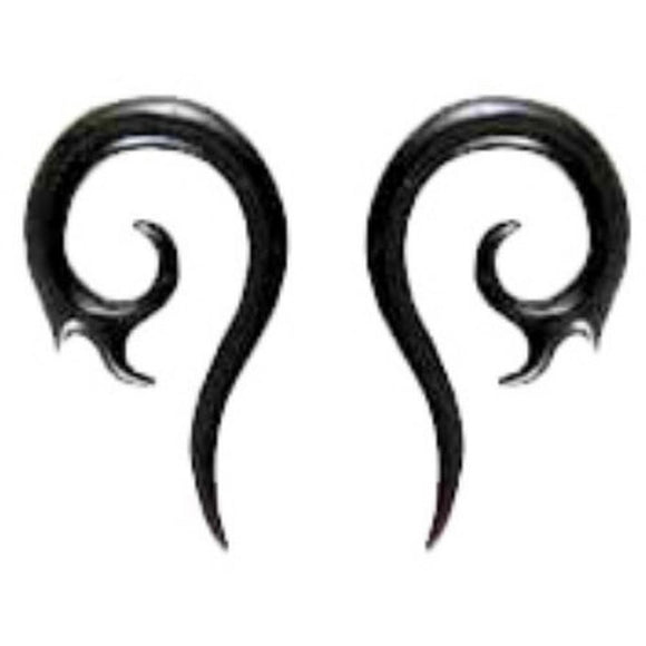 Body Jewelry | Swirl Tail Spiral. Horn 6g Organic Body Jewelry.