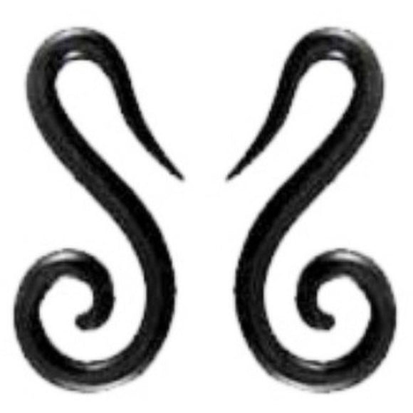Organic Body Jewelry | French hook spiral. Horn 6g Organic Body Jewelry.