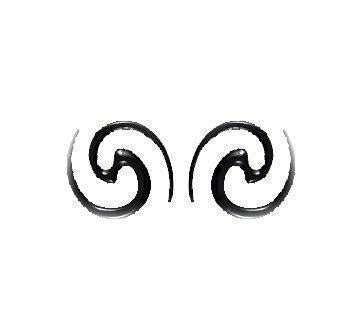 12 Gauges | Double Reversible Spiral. Horn 11g / 12g Organic Body Jewelry.
