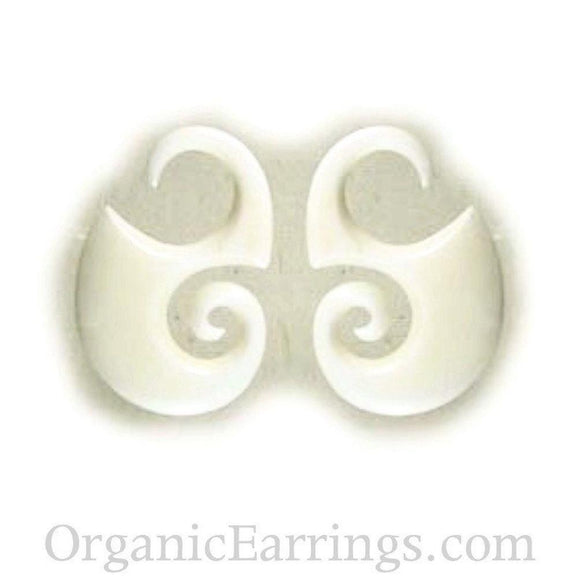 Handmade 10 Gauge Earrings | Water Buffalo Bone, 10 gauge, $36