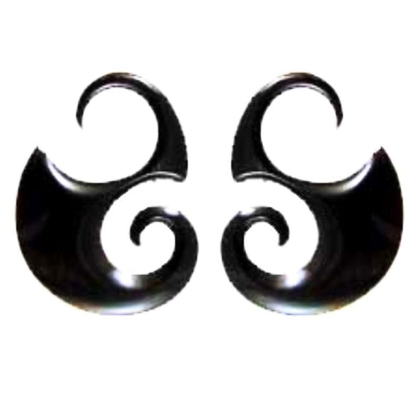 Water buffalo horn 10 Gauge Earrings | Water Buffalo Horn, 10 gauge, $36