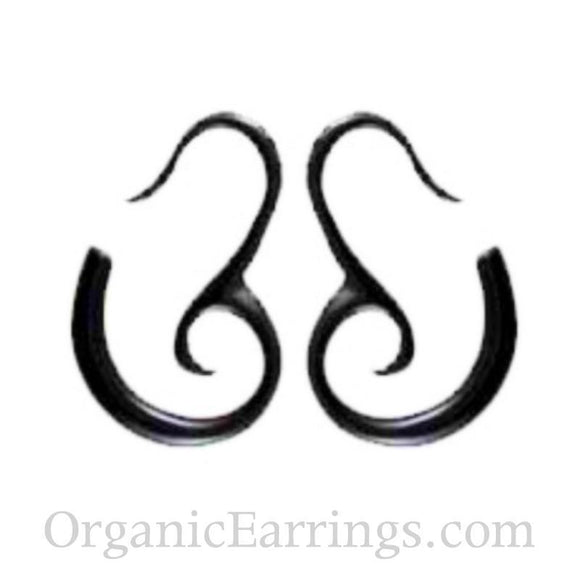 12 Gauges | Mandalay Spirals. Horn 12g Organic Body Jewelry.