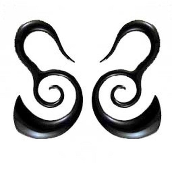 Borneo Body Jewelry | Borneo Spirals. Horn 4g Organic Body Jewelry.