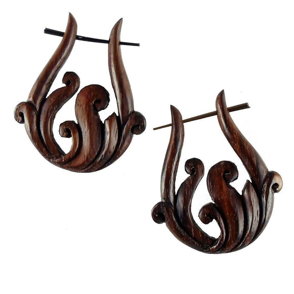 Wood Jewelry | Spring Vine. Wooden Earrings, sono. 1 1/4