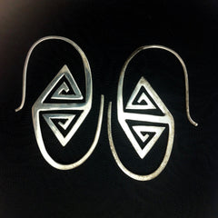 $50 up Spiral Earrings | Tangier. sterling silver, 925 tribal earrings.