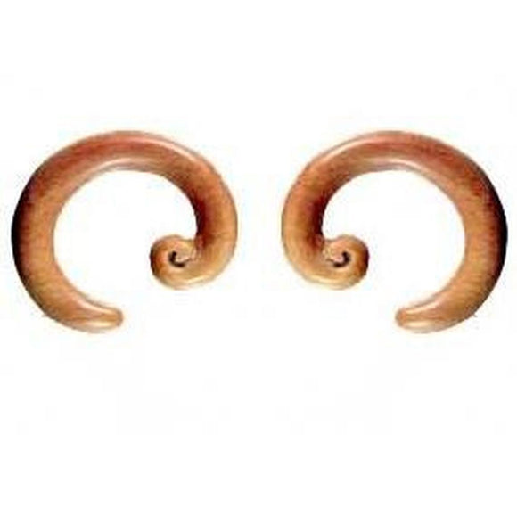 Wood Jewelry | Spiral Hoop. Sabo Wood 2g, Organic Body Jewelry.