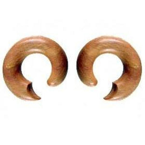 Wood Body Jewelry | Smooth Talon. Wood 00 Gauged Earrings.