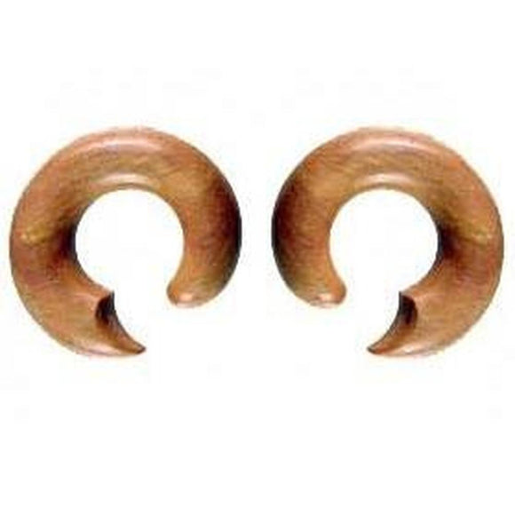 Wood Jewelry | Talon Hoop. Sabo Wood 00g, Organic Body Jewelry.