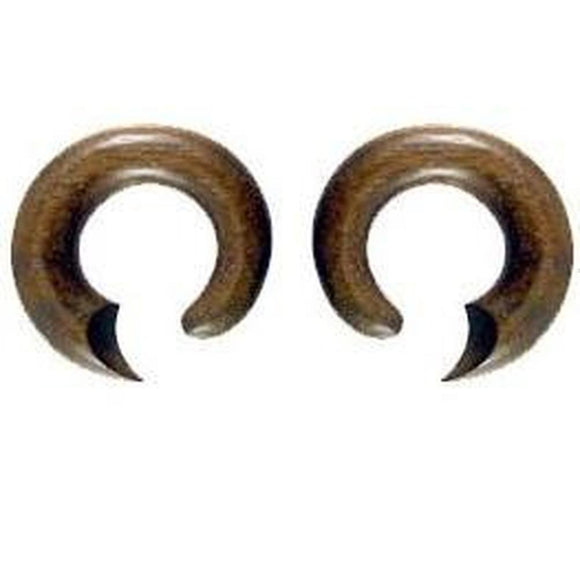 Wood Jewelry | Talon Hoop. Sono Wood 0g, Organic Body Jewelry.