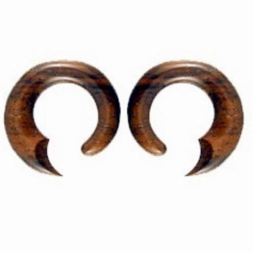 Talon Hoop. Sono Wood 2g Organic Body Jewelry.