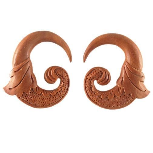Spiral Body Jewelry | Nectar Bird. Sabo Wood 0g Organic Body Jewelry.