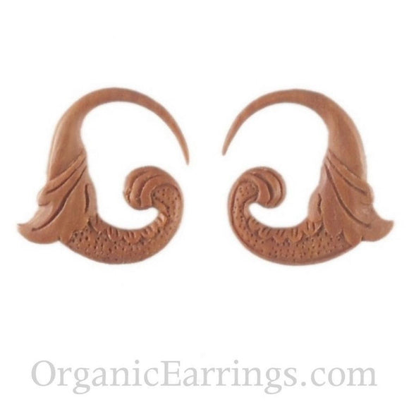 Wood Jewelry | Nectar Bird. 12 gauge earrings. 1